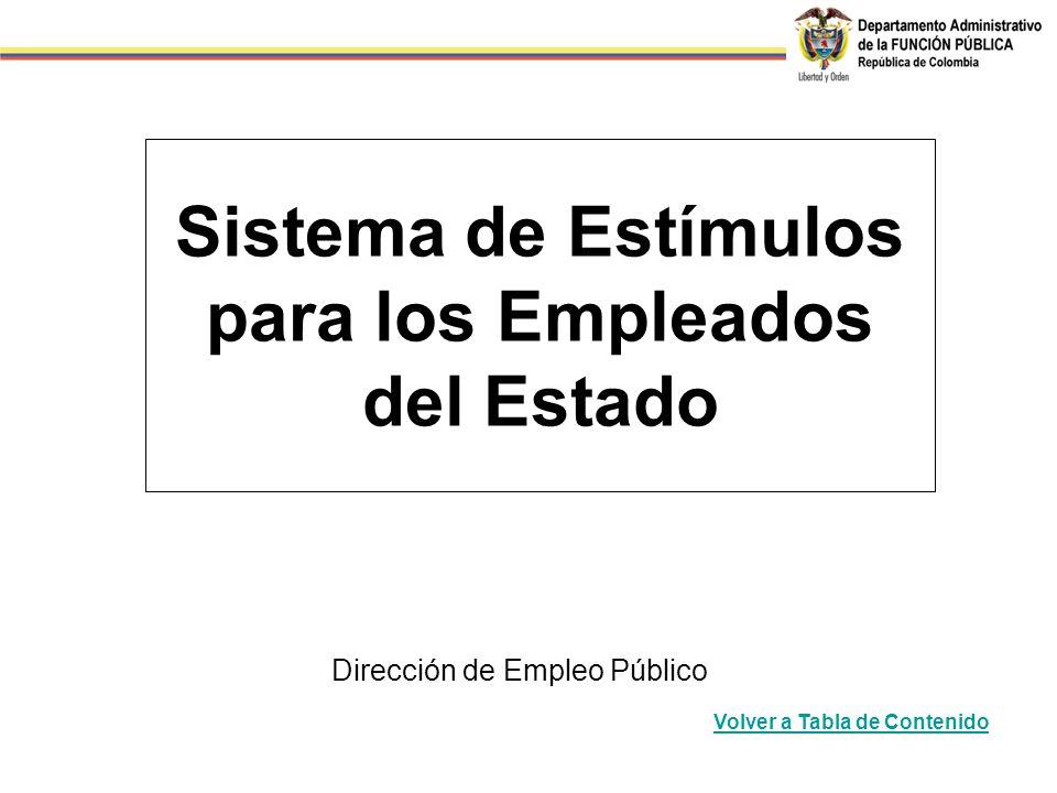 Sistema de Estímulos para los Empleados del Estado