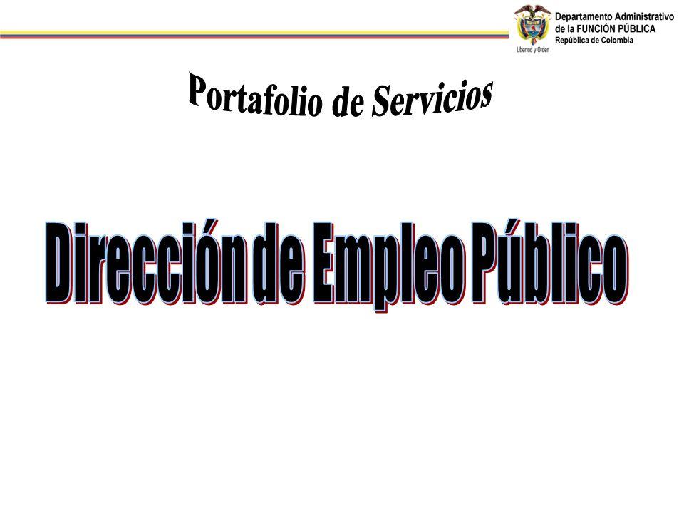 Portafolio de Servicios Dirección de Empleo Público