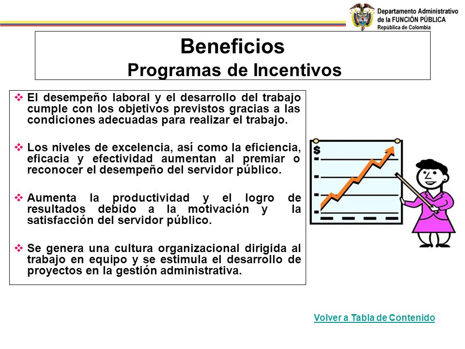 Beneficios Programas de Incentivos