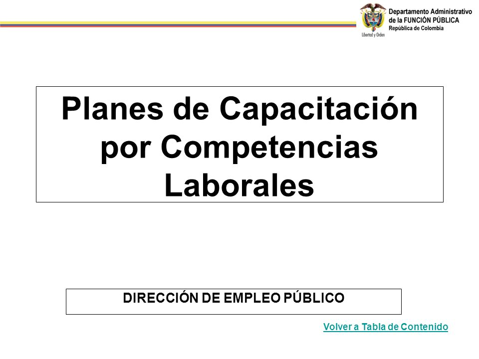Planes de Capacitación por Competencias Laborales