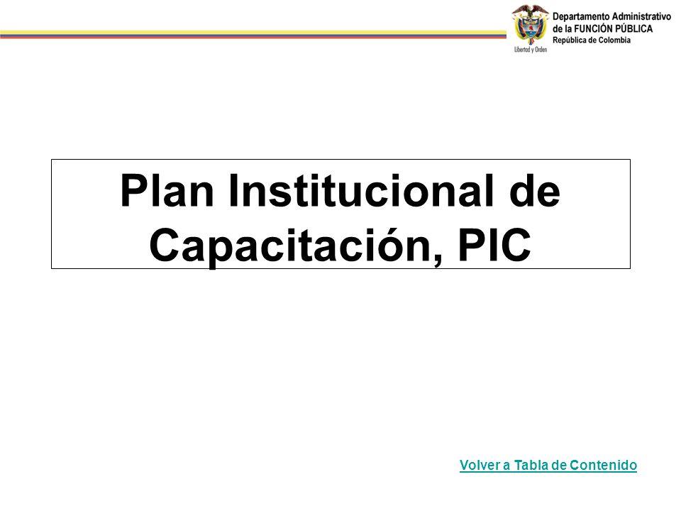 Plan Institucional de Capacitación, PIC
