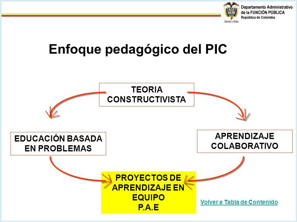 Enfoque pedagógico del PIC