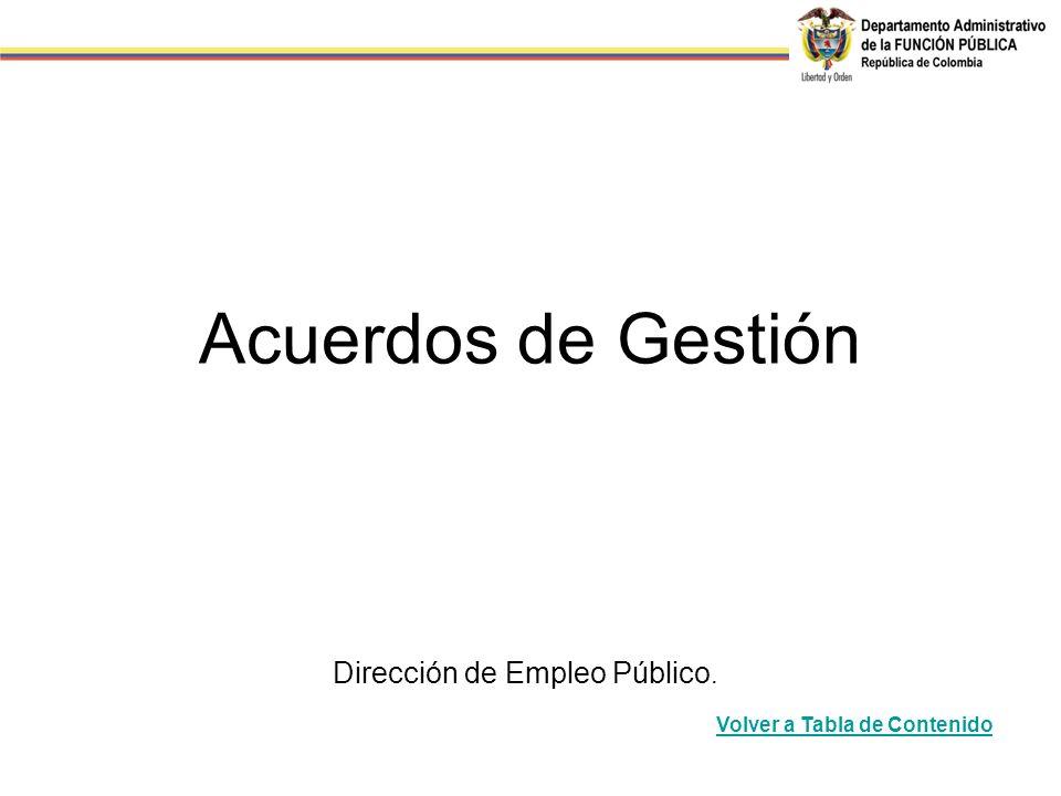 Acuerdos de Gestión Dirección de Empleo Público.