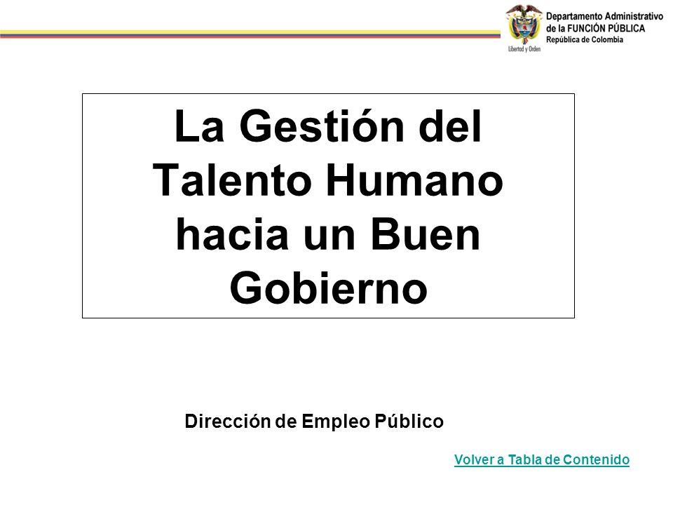 La Gestión del Talento Humano hacia un Buen Gobierno