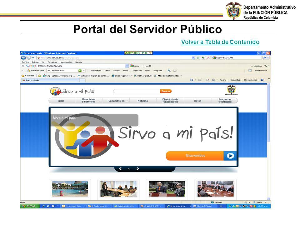 Portal del Servidor Público