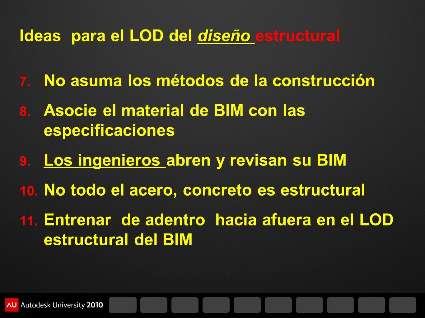 Ideas para el LOD del diseño estructural