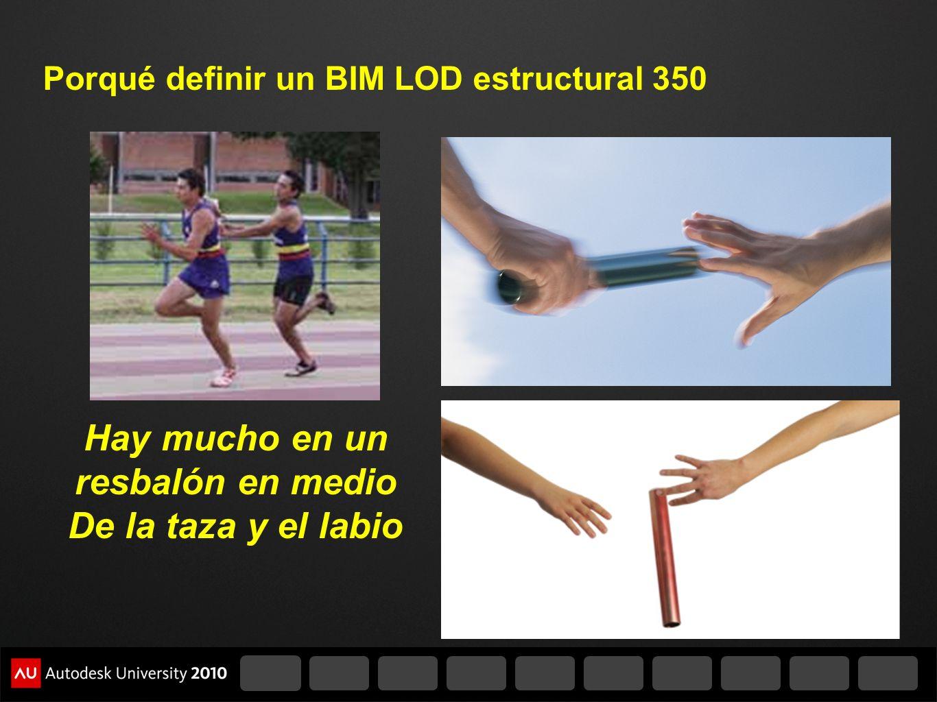 Porqué definir un BIM LOD estructural 350