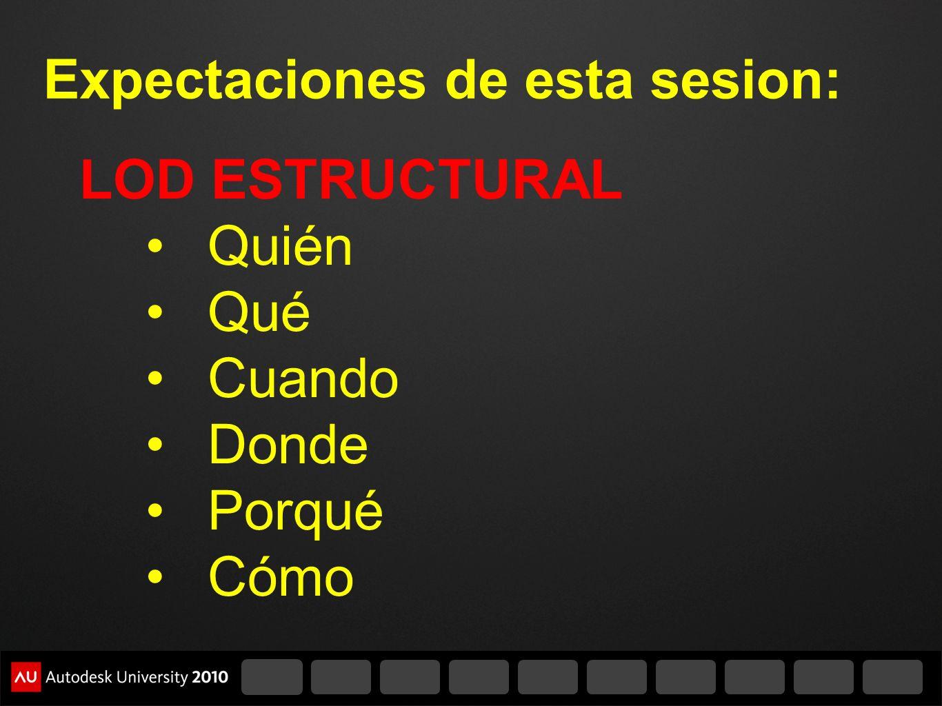 Expectaciones de esta sesion: