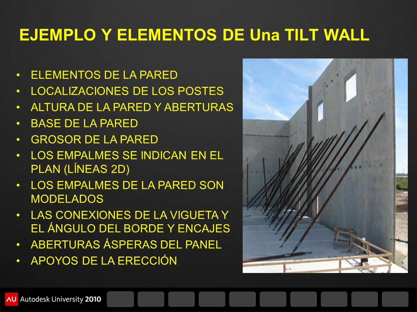 EJEMPLO Y ELEMENTOS DE Una TILT WALL
