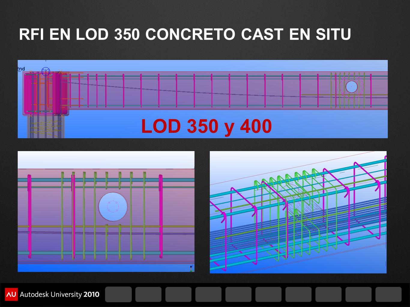 RFI EN LOD 350 CONCRETO CAST EN SITU