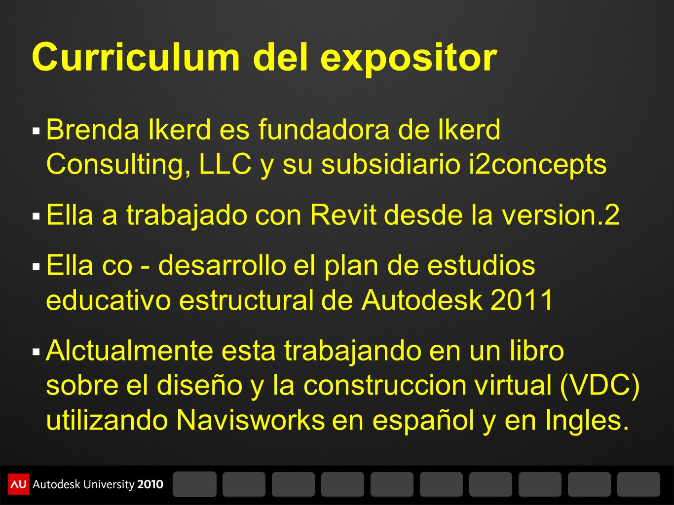 Curriculum del expositor