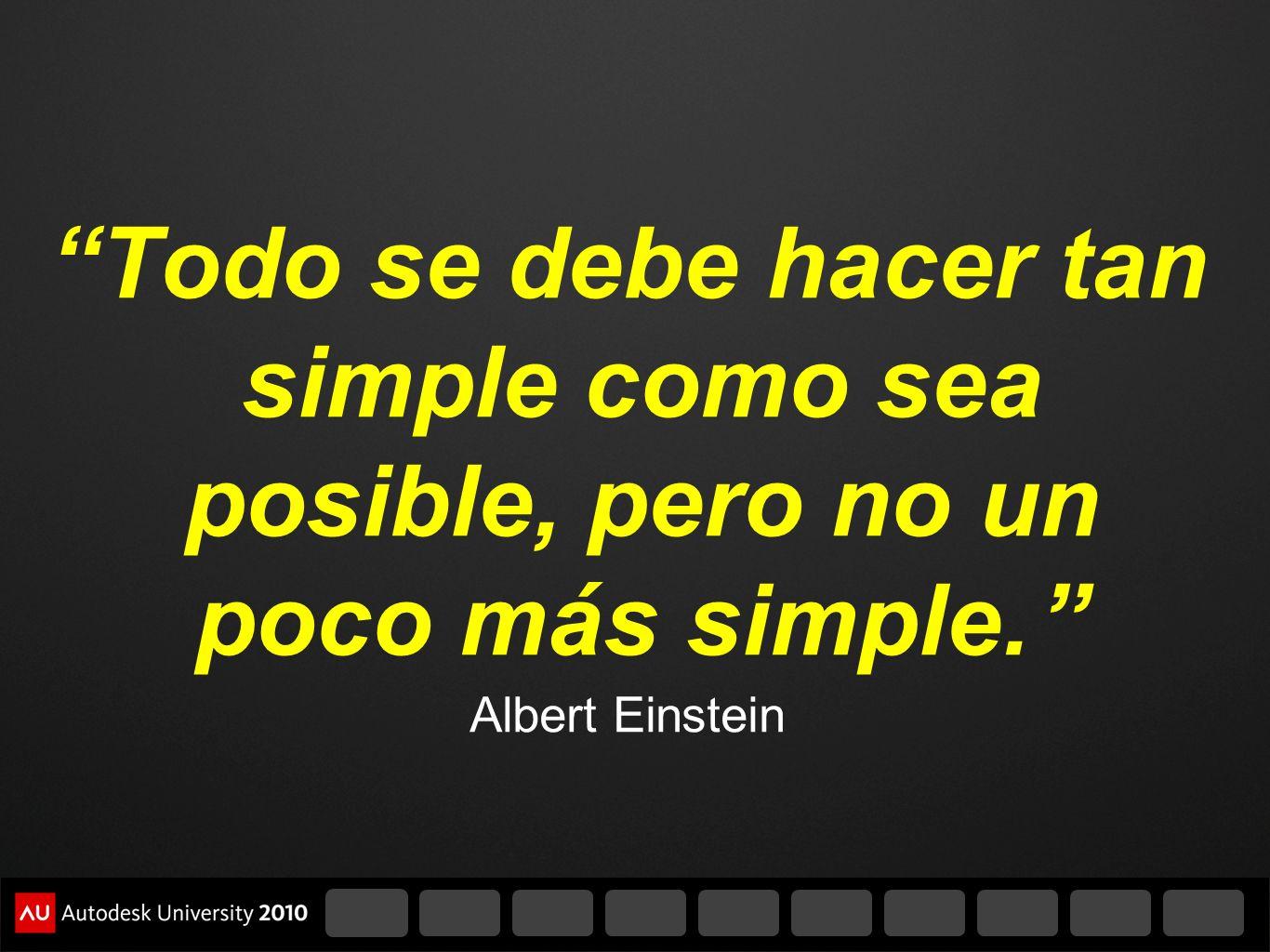 Todo se debe hacer tan simple como sea posible, pero no un poco más simple.