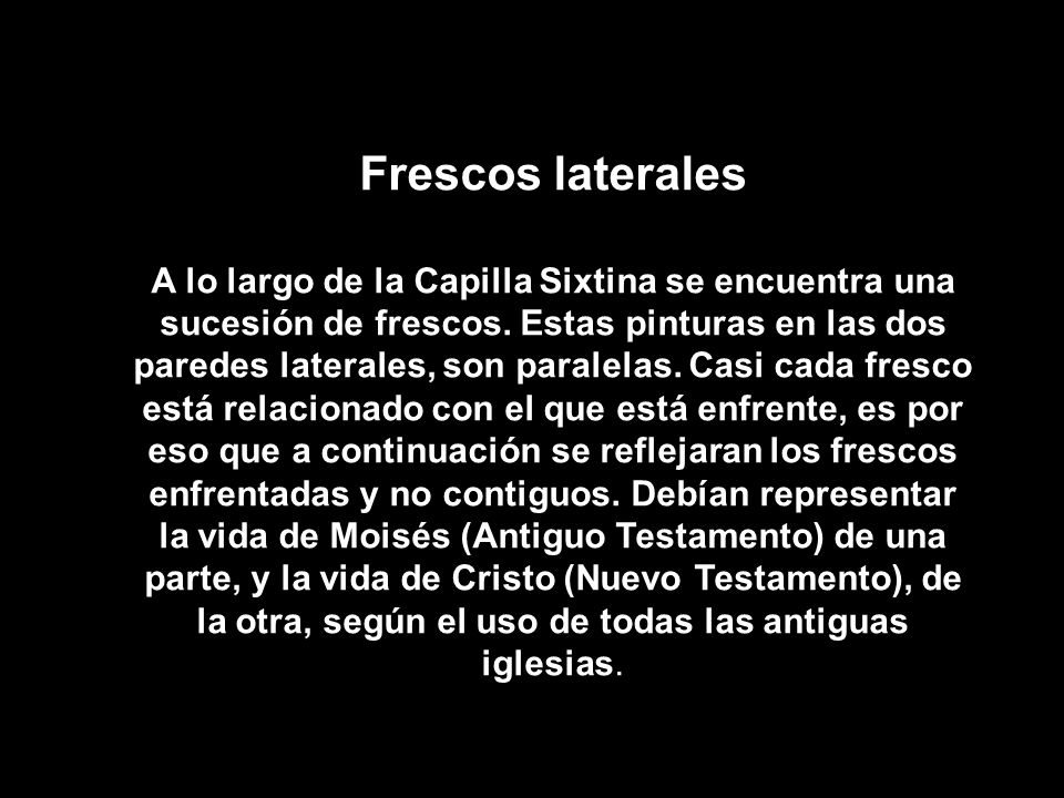 Frescos laterales