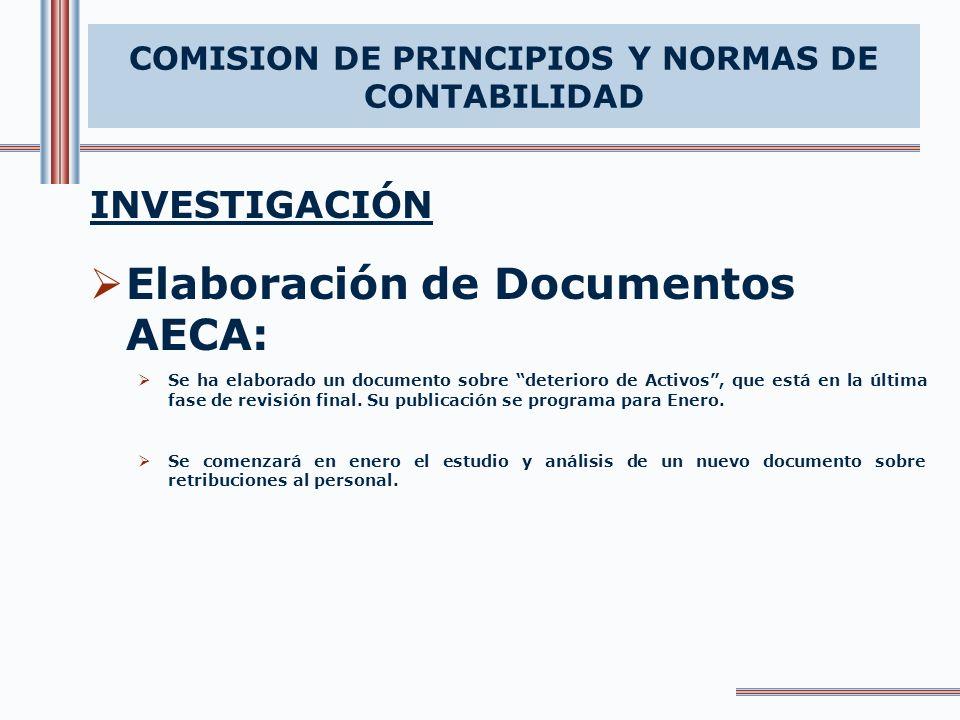 COMISION DE PRINCIPIOS Y NORMAS DE CONTABILIDAD
