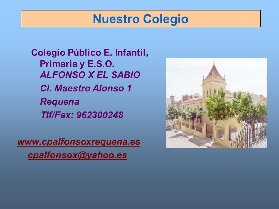 Nuestro Colegio Colegio Público E. Infantil, Primaria y E.S.O. ALFONSO X EL SABIO. Cl. Maestro Alonso 1.