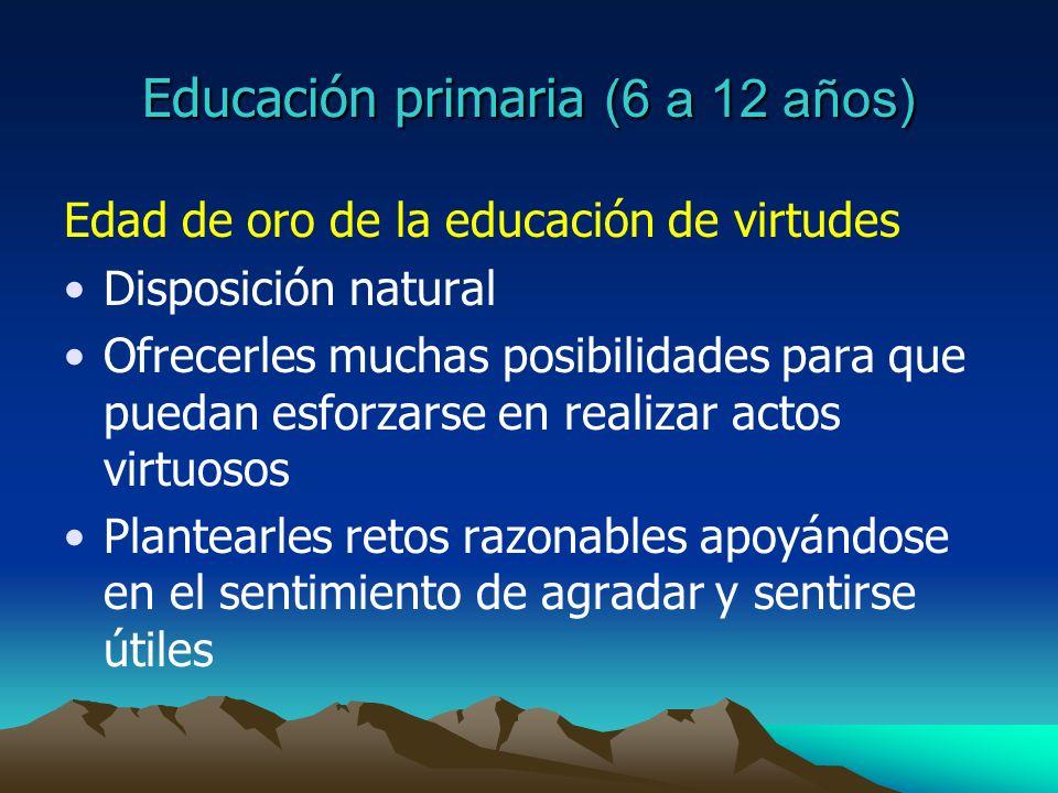 Educación primaria (6 a 12 años)