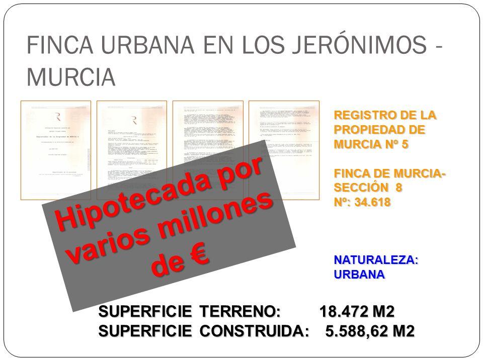 FINCA URBANA EN LOS JERÓNIMOS - MURCIA