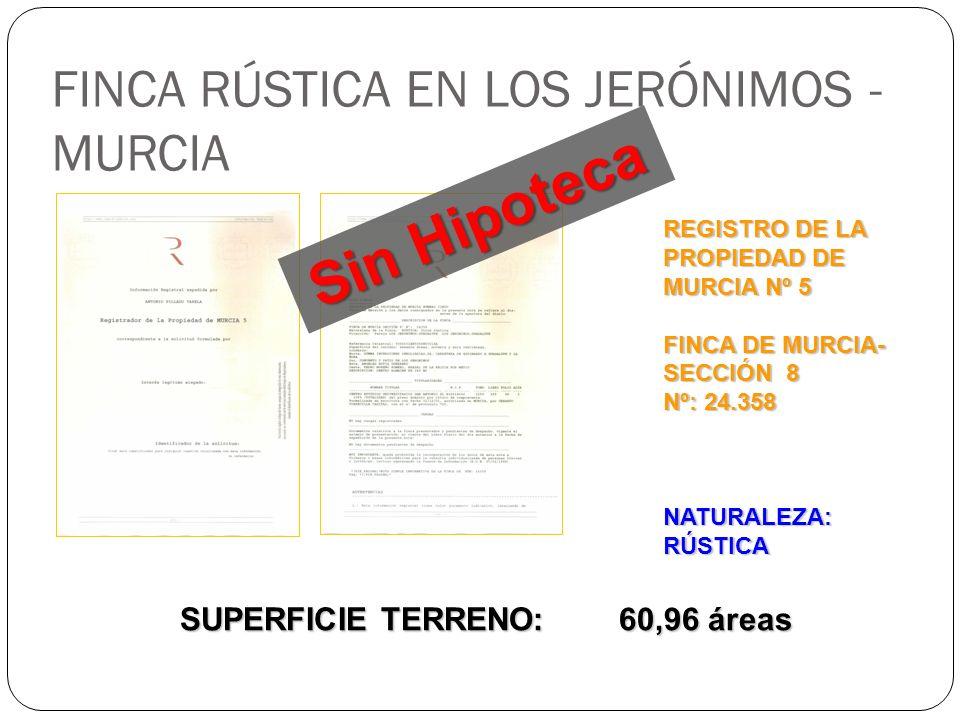 FINCA RÚSTICA EN LOS JERÓNIMOS - MURCIA