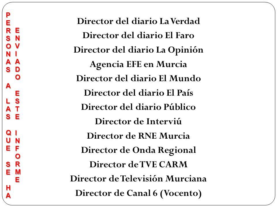 Director del diario La Verdad Director del diario El Faro