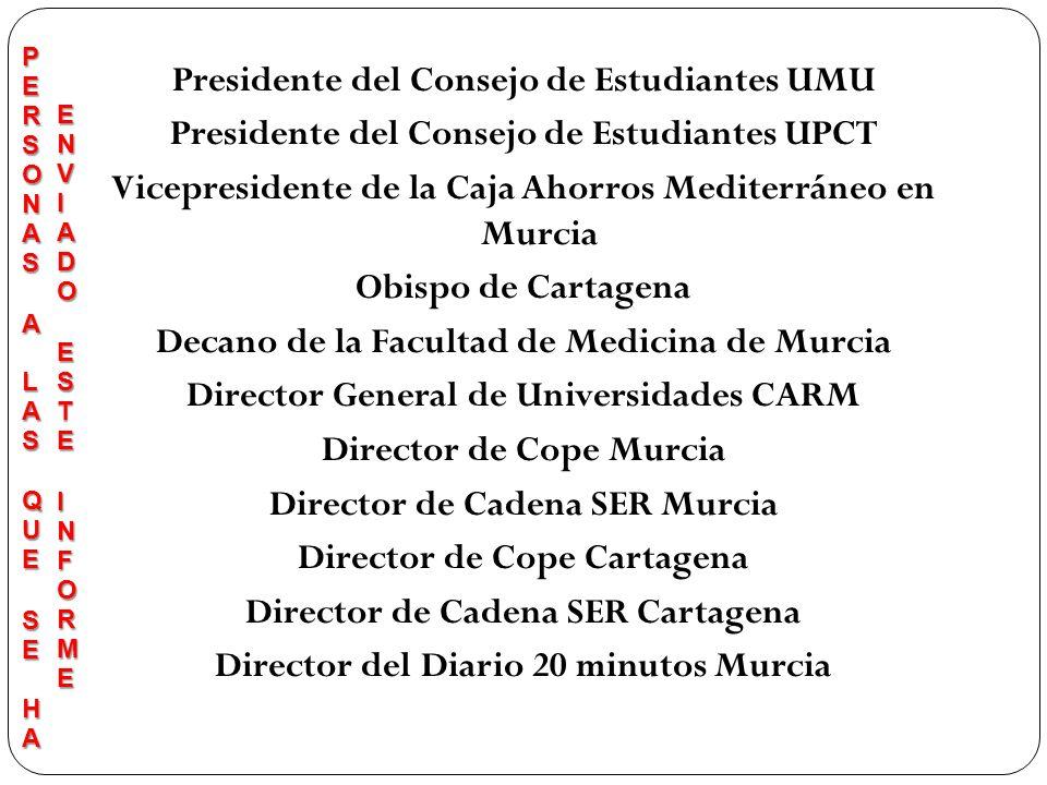 Presidente del Consejo de Estudiantes UMU