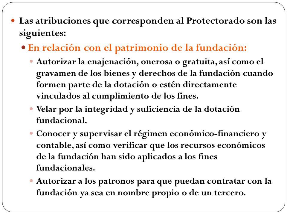 En relación con el patrimonio de la fundación:
