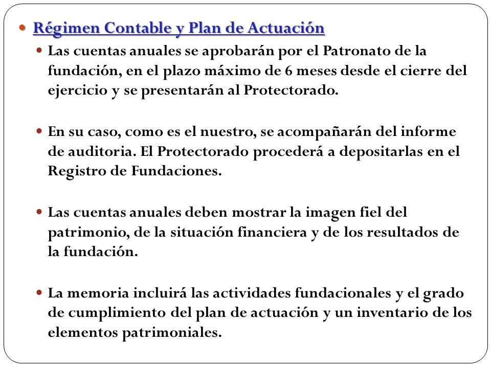 Régimen Contable y Plan de Actuación