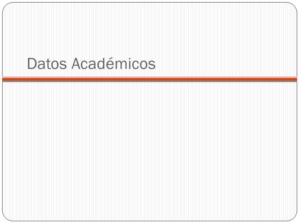 Datos Académicos