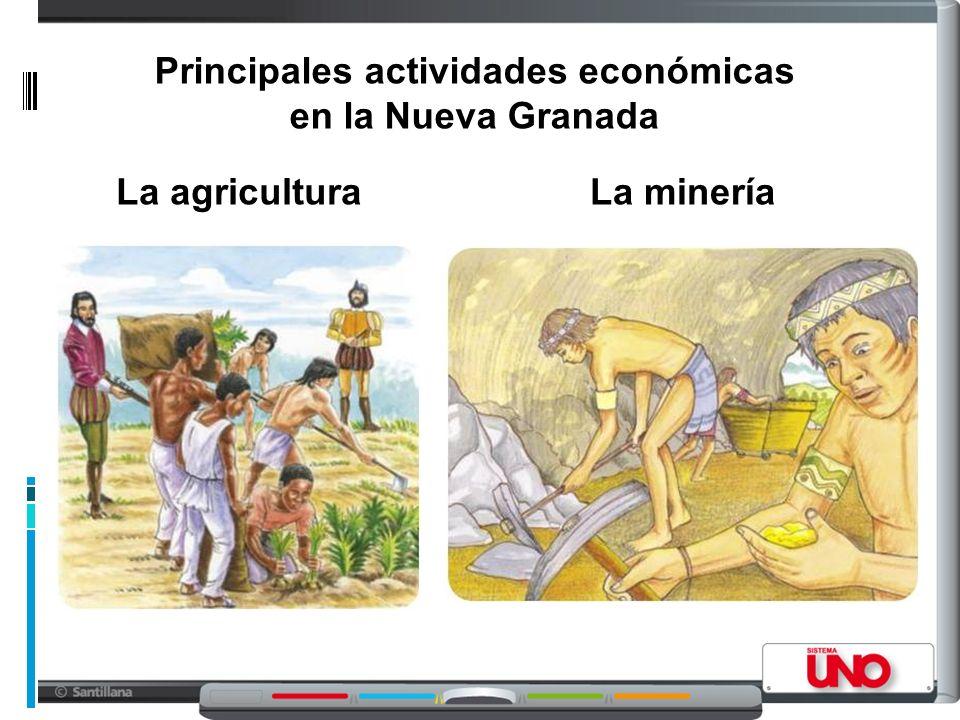 Principales actividades económicas en la Nueva Granada