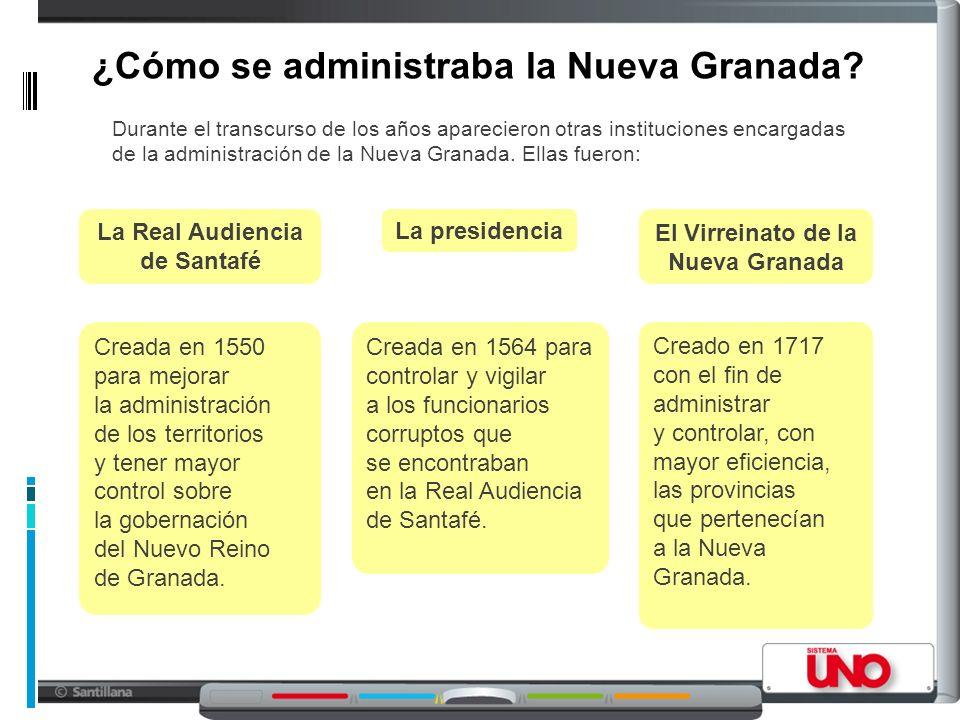 ¿Cómo se administraba la Nueva Granada