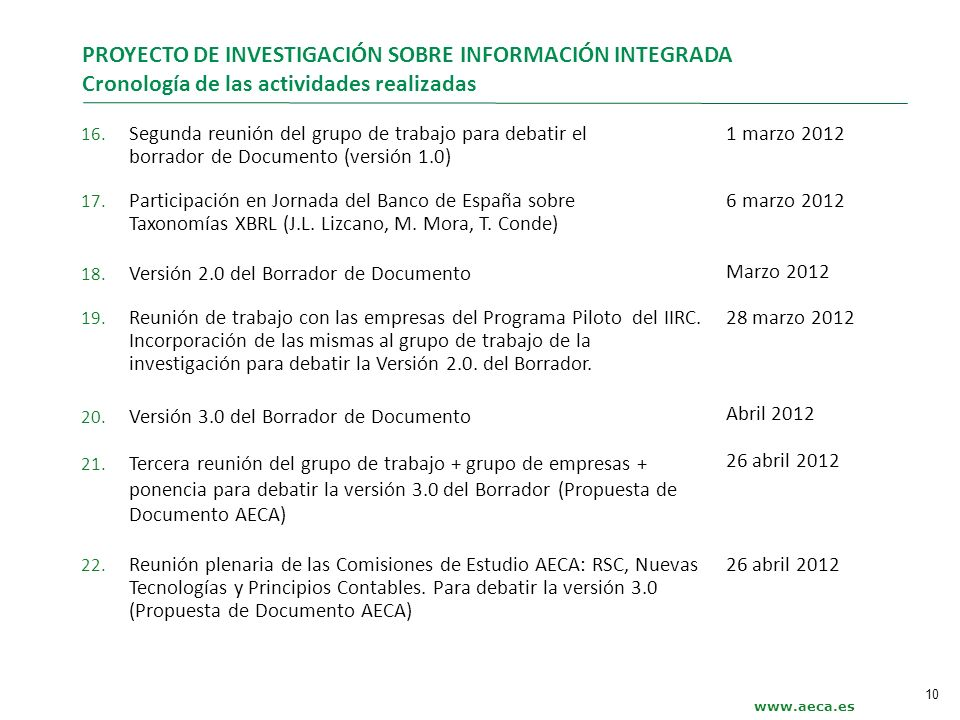 PROYECTO DE INVESTIGACIÓN SOBRE INFORMACIÓN INTEGRADA