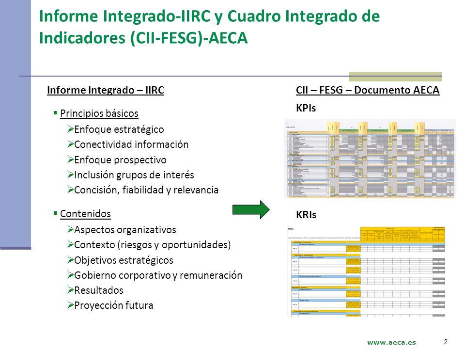 Informe Integrado-IIRC y Cuadro Integrado de Indicadores (CII-FESG)-AECA