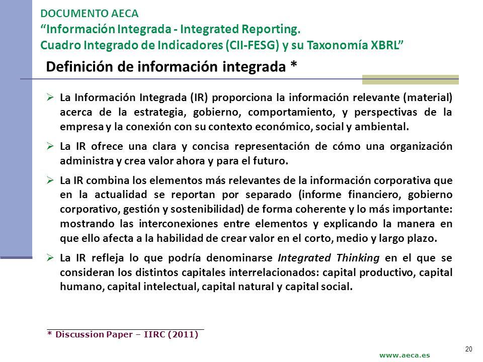 Definición de información integrada *