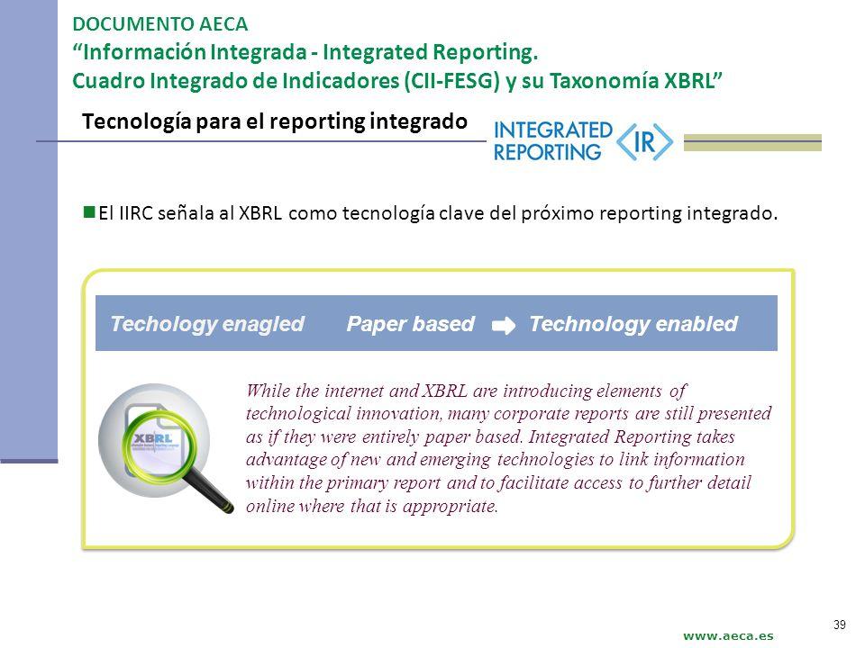 Tecnología para el reporting integrado