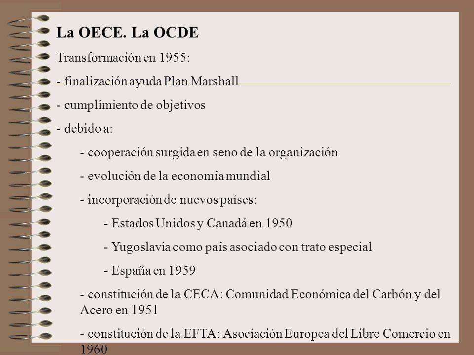 La OECE. La OCDE Transformación en 1955: