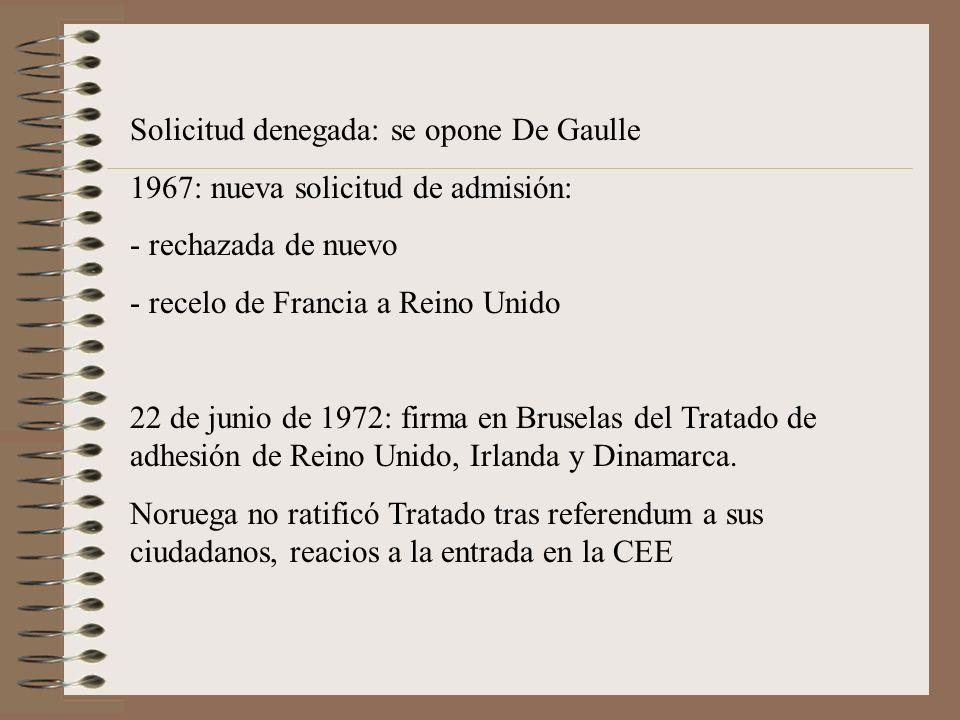 Solicitud denegada: se opone De Gaulle