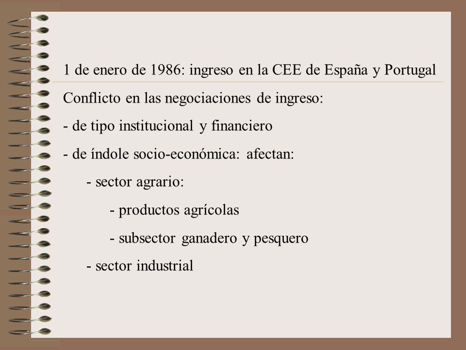 1 de enero de 1986: ingreso en la CEE de España y Portugal