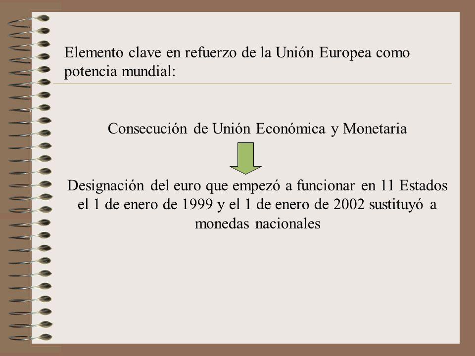 Consecución de Unión Económica y Monetaria