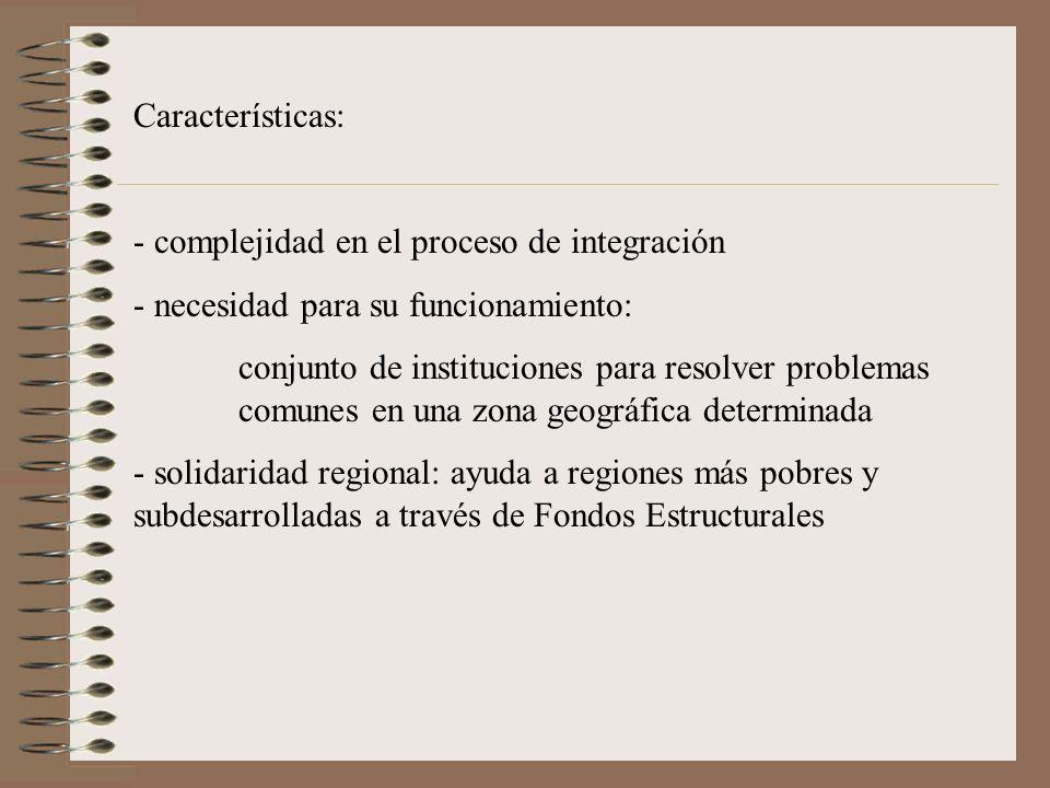 Características: complejidad en el proceso de integración. necesidad para su funcionamiento:
