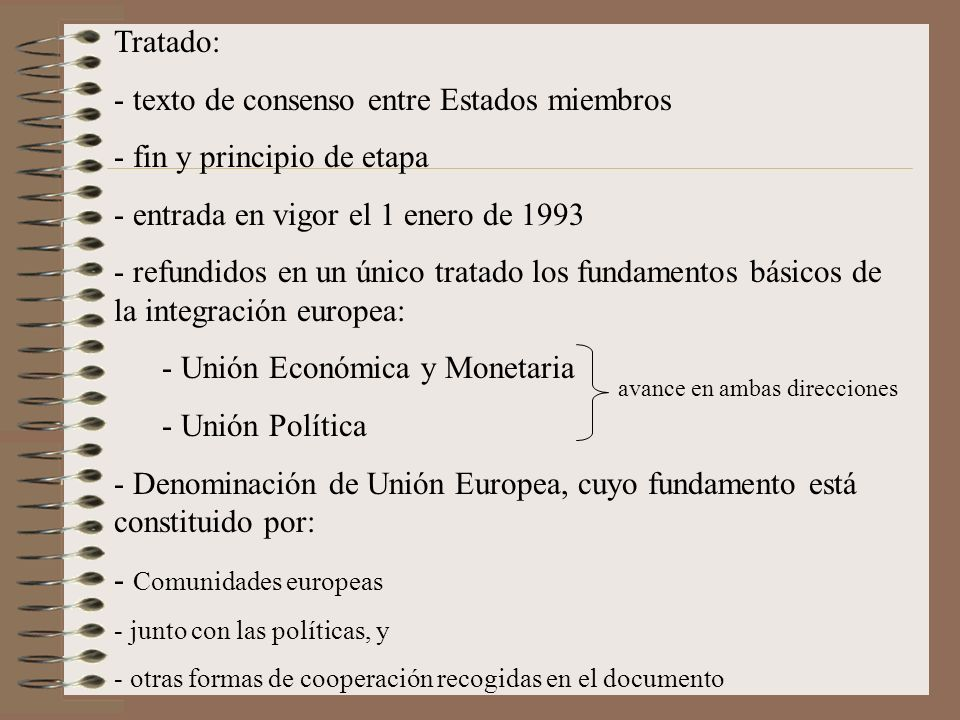 texto de consenso entre Estados miembros fin y principio de etapa