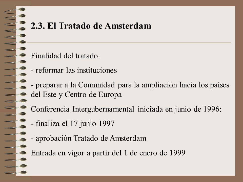 2.3. El Tratado de Amsterdam