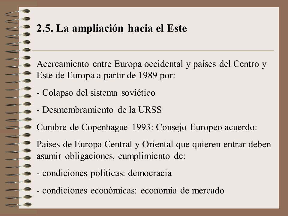 2.5. La ampliación hacia el Este
