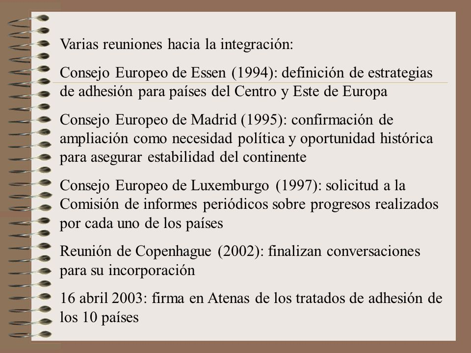 Varias reuniones hacia la integración: