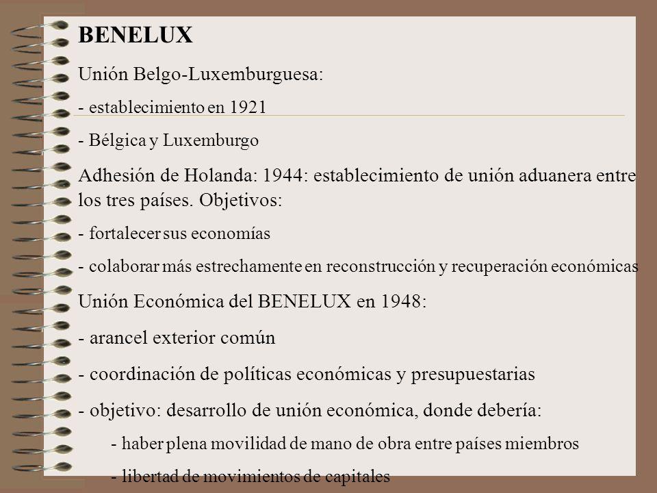BENELUX Unión Belgo-Luxemburguesa: