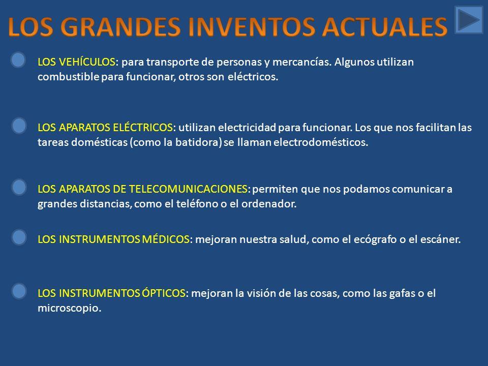 LOS GRANDES INVENTOS ACTUALES