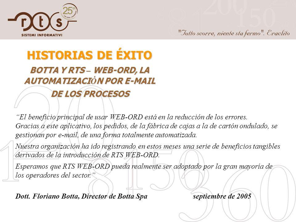 BOTTA Y RTS – WEB-ORD, LA AUTOMATIZACIÓN POR E-MAIL