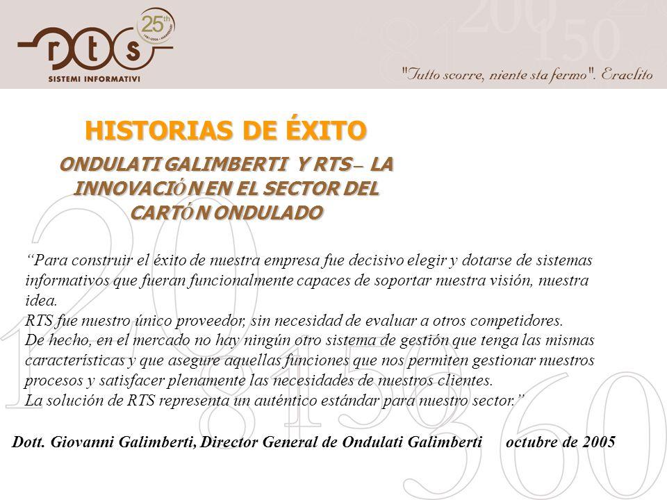 HISTORIAS DE ÉXITO ONDULATI GALIMBERTI Y RTS – LA INNOVACIÓN EN EL SECTOR DEL CARTÓN ONDULADO.
