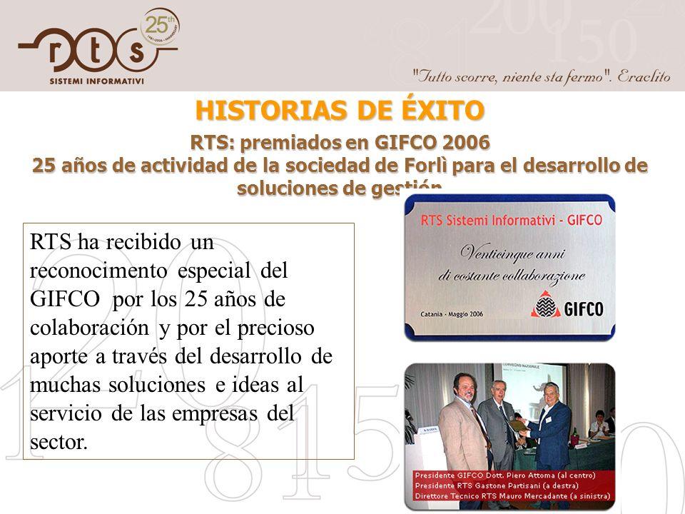 RTS: premiados en GIFCO 2006