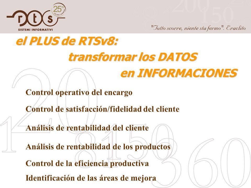 el PLUS de RTSv8: transformar los DATOS en INFORMACIONES