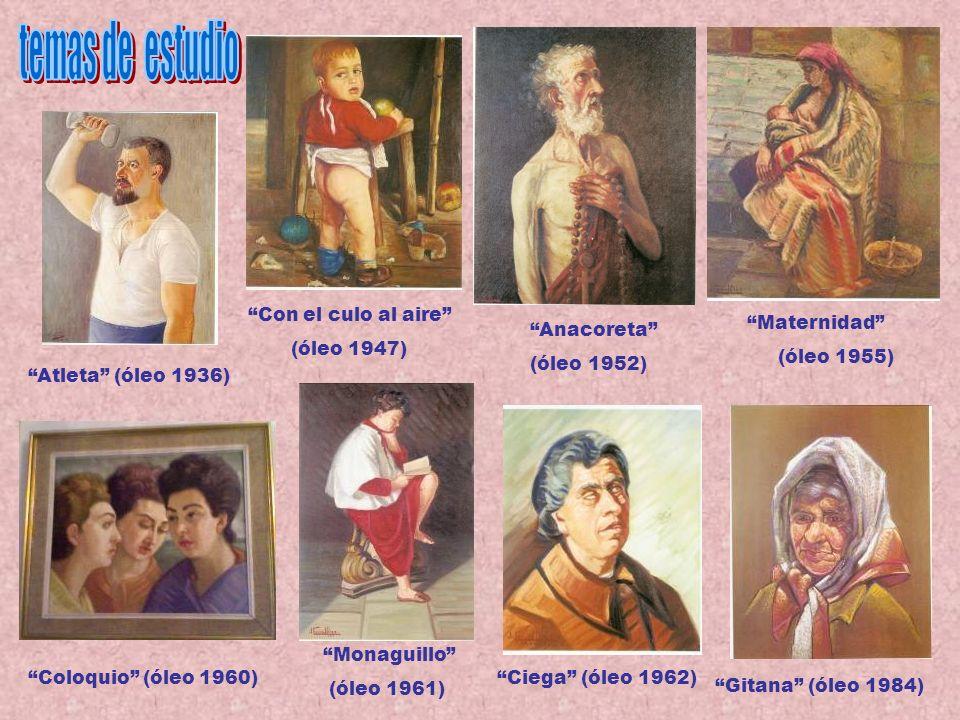 temas de estudio Con el culo al aire (óleo 1947) Maternidad