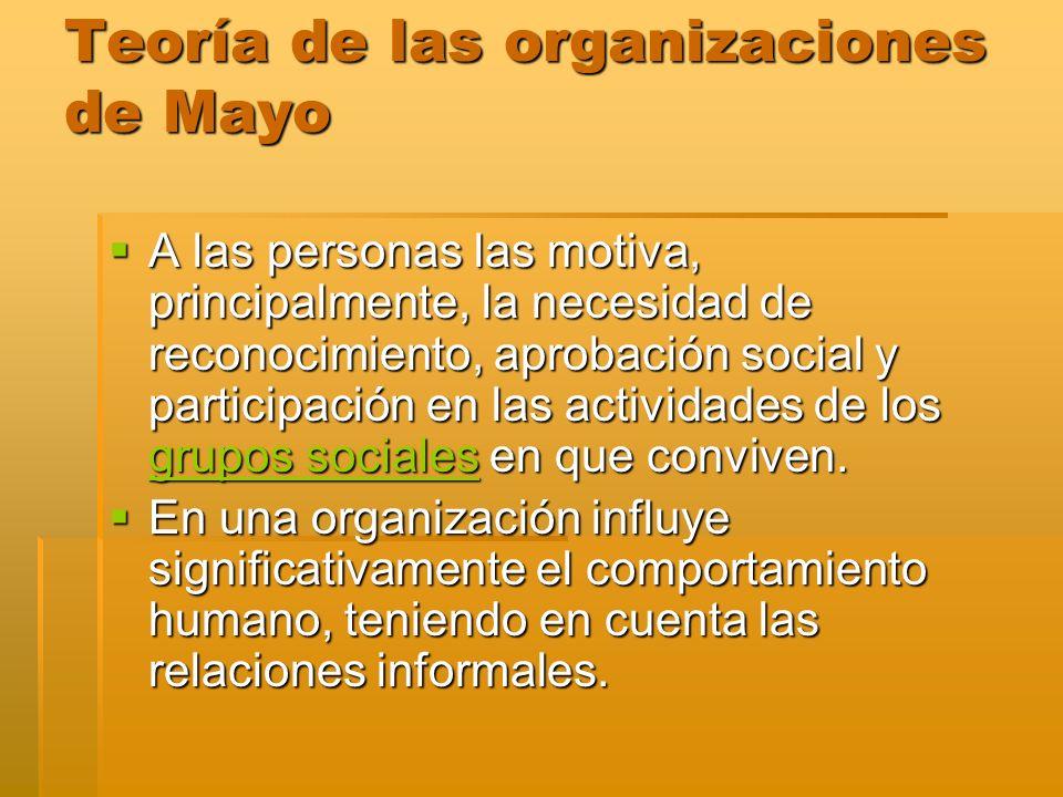 Teoría de las organizaciones de Mayo